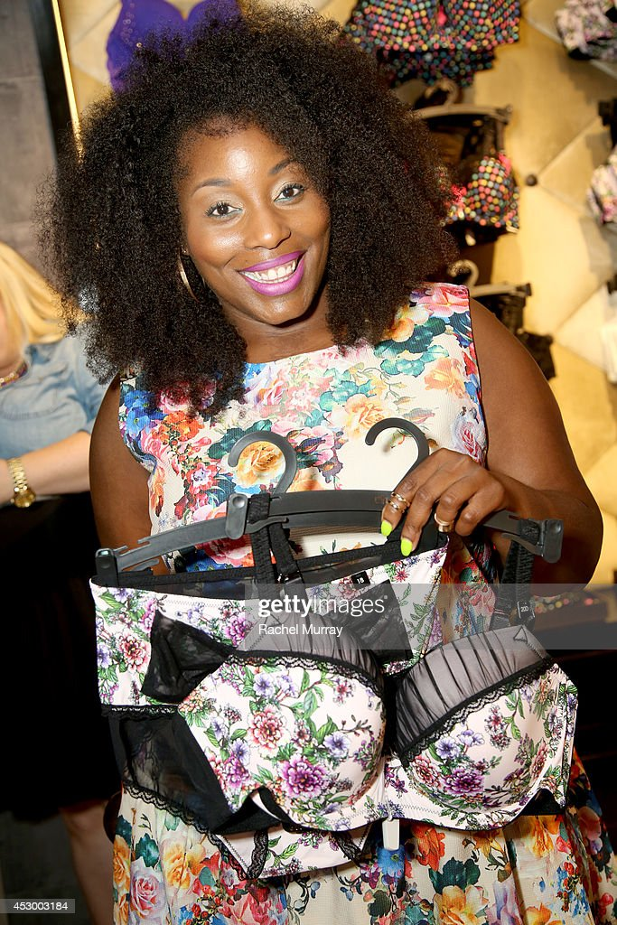 Blogger Ivory Jinelle attends the City Chic Exclusive Preview: First U.S Store Culver City at Westfield Culver City Shopping Mall on July 31, 2014 in Culver City, California.