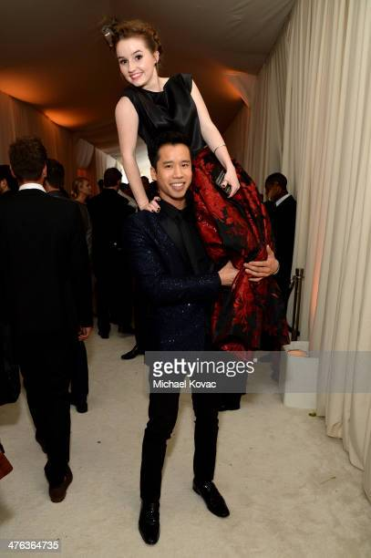 Blogger Jared Eng and actress Kaitlyn Dever attend the 22nd Annual Elton John AIDS Foundation Academy Awards Viewing Party at The City of West...