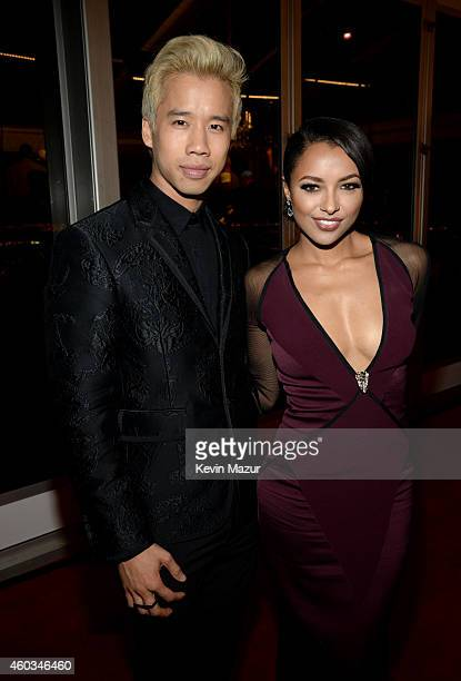 Blogger Jared Eng and actress Kat Graham attend Rihanna's First Annual Diamond Ball at The Vineyard on December 11 2014 in Beverly Hills California