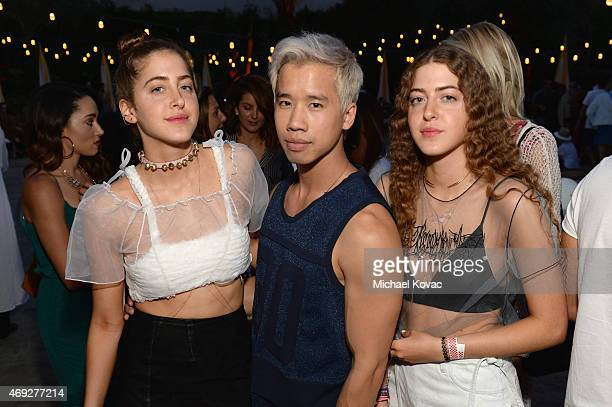 Blogger Jared Eng and guests attend the Official HM Loves Coachella Party at the Parker Palm Springs on April 10 2015 in Palm Springs California
