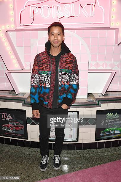 Blogger Jared Eng attends Poppy Jamie Suki Waterhouse Leo Seigal and Cade Hudson celebration of the launch of POP SUKI on November 2 2016 in Los...