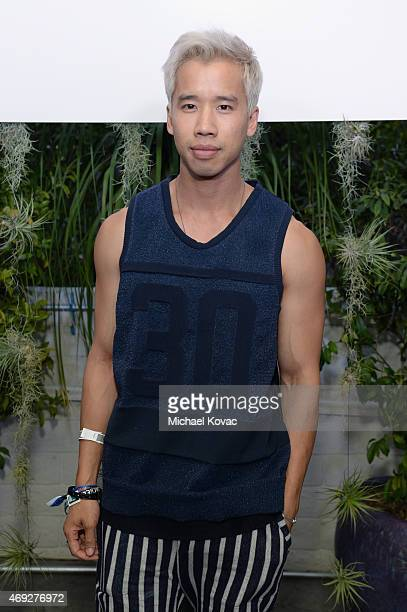 Blogger Jared Eng attends the Official HM Loves Coachella Party at the Parker Palm Springs on April 10 2015 in Palm Springs California