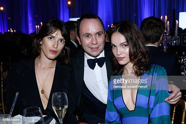 Blogger Jeanne Damas Ermanno Piraes and actress Lola Le Lann attend the Annual Charity Dinner hosted by the AEM Association Children of the World for...