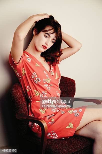 Blogger Jeanne Damas is photographed for Madame Figaro on December 3 2014 in Paris France Dress necklace personal rings PUBLISHED IMAGE CREDIT MUST...
