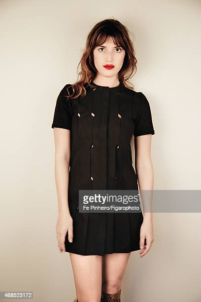 Blogger Jeanne Damas is photographed for Madame Figaro on December 3 2014 in Paris France Dress boots PUBLISHED IMAGE CREDIT MUST READ Fe...