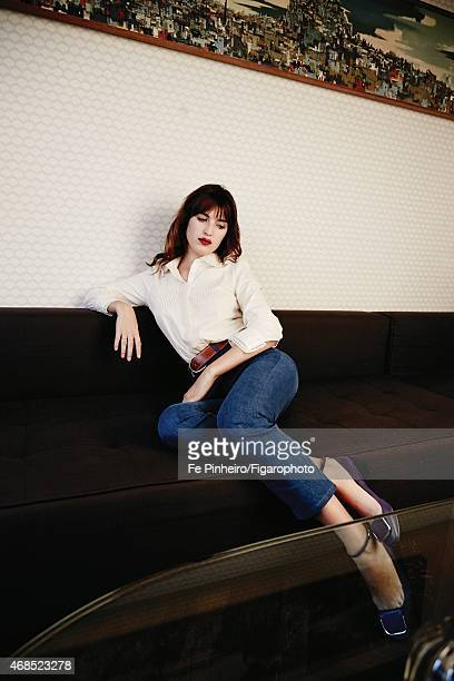 Blogger Jeanne Damas is photographed for Madame Figaro on December 3 2014 in Paris France Top and jeans rings belt shoes PUBLISHED IMAGE CREDIT MUST...