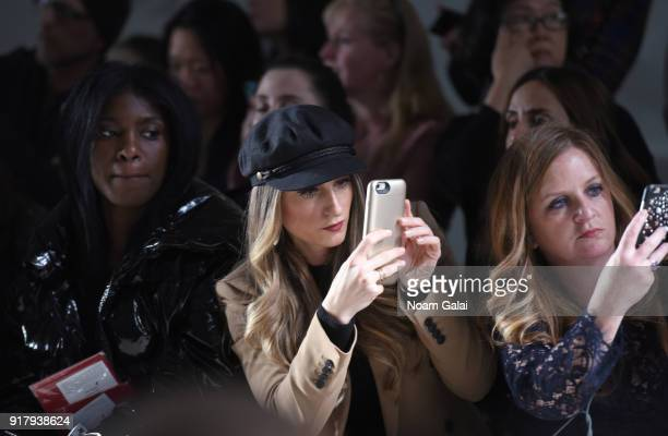 Blogger Jenna Pardini attends the Carlisle Fall/Winter 2018 Runway Show during New York Fashion Week at Pier 59 Studios on February 13 2018 in New...