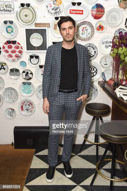 Blogger Joey Zauzig attends the Oliver Peoples Pour Berluti Launch Celebration at Sant Ambroeus SoHo on March 28 2017 in New York City