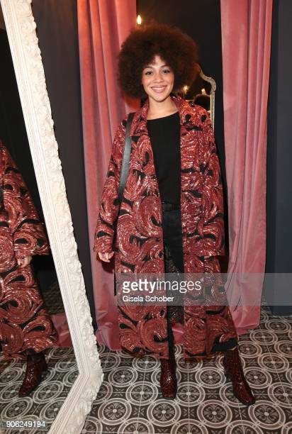 Blogger Julia Dalia during the Marcel Ostertag Fashion Presentation at Schlueter Palais on January 17 2018 in Berlin Germany