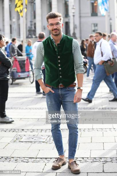 Blogger Justus Frederic Hansen during the 'Fruehstueck bei Tiffany' at Tiffany Store ahead of the Oktoberfest on September 22 2018 in Munich Germany