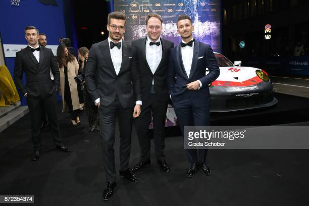 Blogger Justus Hansen Martin Stange and Blogger Sandro Rasa during the GQ Men of the year Award 2017 at Komische Oper on November 9 2017 in Berlin...