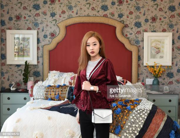 Blogger Kate Dyl poses during Nordstrom and Anthropologie partner to Introduce Anthropologie Home In Nordstrom stores and Nordstromcom on March 14...