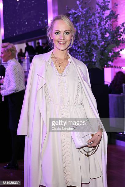 Blogger Kathrin Gelinsky during the Marc Cain fashion show fall/winter 2017 'Ballet magnifique' at 'Telekom Representation' on January 17 2017 in...