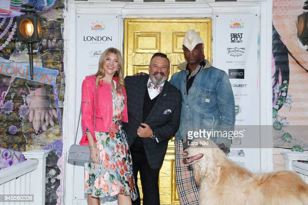 Blogger Katie Sands Sunrise Association board member David Miller and artist Hulbert Waldroup attend the Sold Out Art Auction To Benefit Camp For...