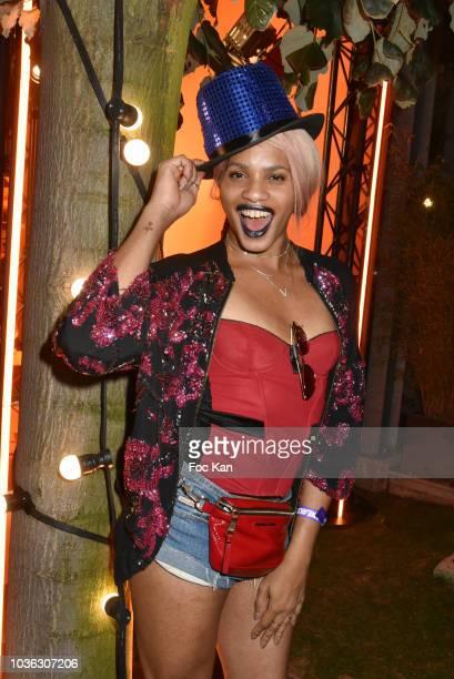 Blogger Kevhoney Scarlett attends the Spritz Plazza Party at the 118 Warner on September 19 2018 in Paris France