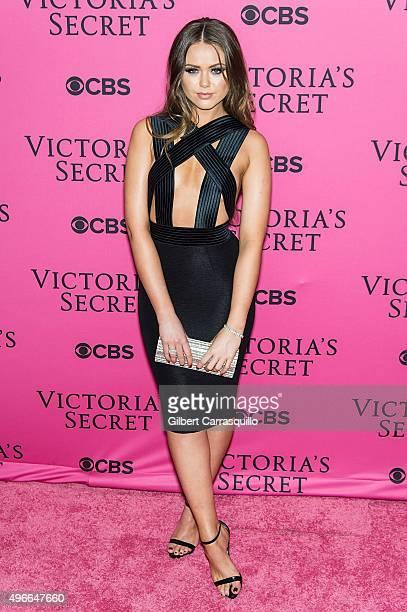 Blogger Kristina Bazan attends 2015 Victoria's Secret Fashion Show at Lexington Armory on November 10 2015 in New York City
