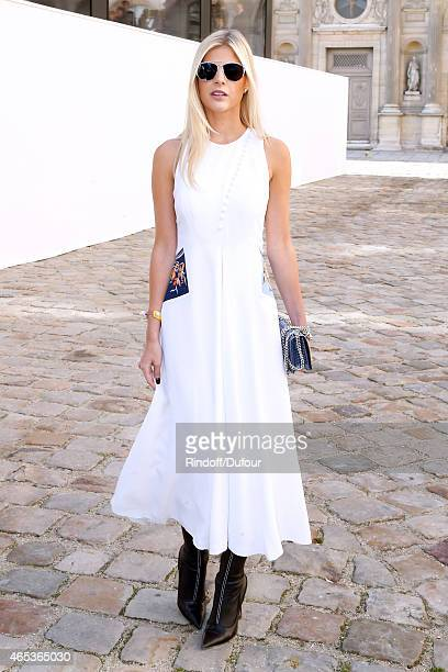 Blogger Lala Rudge attends the Christian Dior show as part of the Paris Fashion Week Womenswear Fall/Winter 2015/2016 on March 6 2015 in Paris France