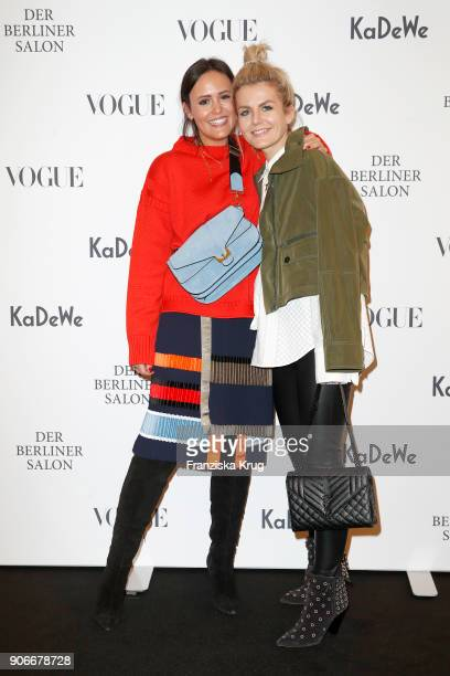 Blogger Laura Noltemeyer and Marina Ilic during the celebration of 'Der Berliner Salon' by KaDeWe Vogue at KaDeWe on January 18 2018 in Berlin Germany