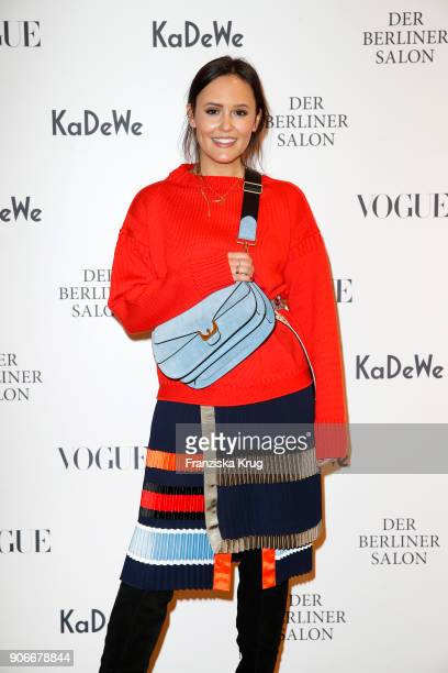 Blogger Laura Noltemeyer during the celebration of 'Der Berliner Salon' by KaDeWe Vogue at KaDeWe on January 18 2018 in Berlin Germany