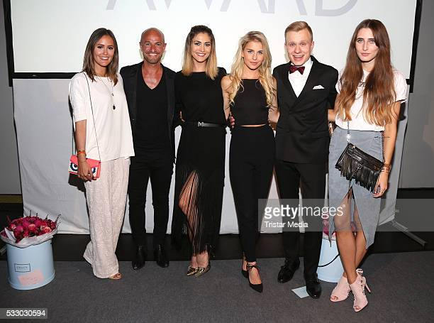 Blogger Laura Noltemeyer Peyman Amin Fiona Erdmann blogger Caro Daur Nils Kutzner and Lisa Fliege attend the 2016 Blogger of the Year Award on May 19...
