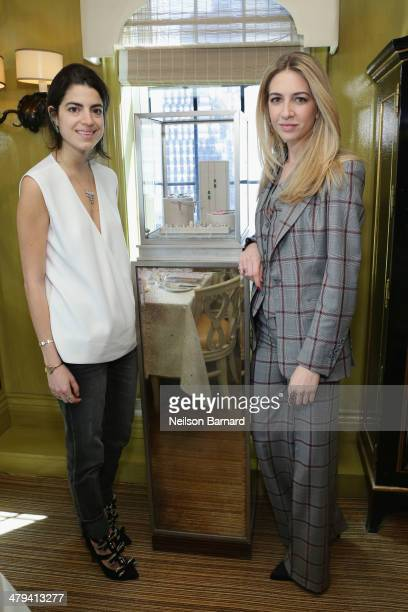Blogger Leandra Medine and Sabine Ghanem attend a lunch in honor of jewelry designer Sabine Ghanem hosted by Leandra Medine and Elizabeth von der...