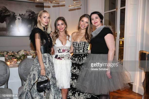 Blogger Leonie Hanne AnnKathrin Goetze Victoria Swarovski and Christina Sennlaub PR Dior during the private Maison Christian Dior Paris dinner on...