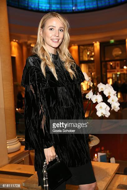 Blogger Leonie Hanne during the #Whatdrivesyou event by Cartier Wempe Weinstrasse on October 25 2016 in Munich Germany