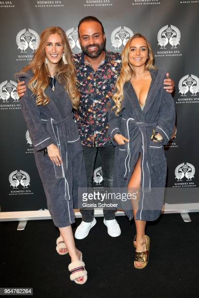 Blogger Leslie Huhn, Bardia Torabi, General Manager Roomers Munich, Chiara Bransi during the Grand Opening of Roomers Spa by Shan Rahimkhan on May 4,...
