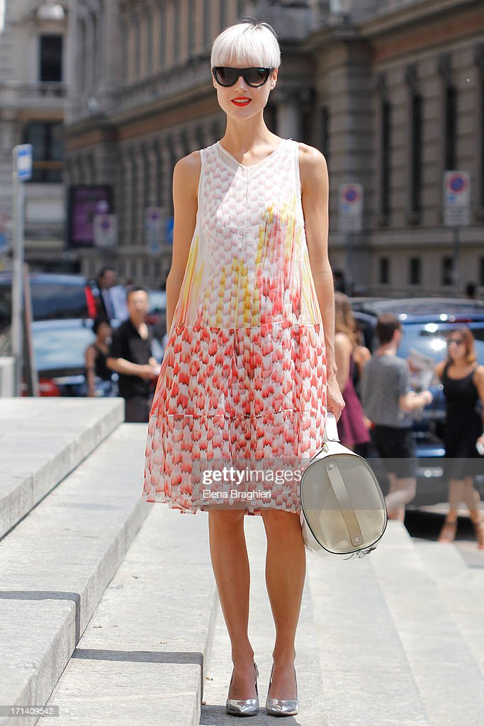 Blogger Linda To is seen at Milan Fashion Week Menswear Spring/Summer 2014 on June 23, 2013 in Milan, Italy. She's wearing a Missoni dress