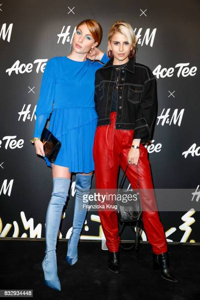 Blogger Lisa Banholzer and blogger Caro Daur attend the HM Acee Tee showcase on August 16 2017 in Berlin Germany