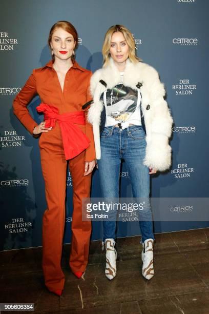Blogger Lisa Banholzer and Blogger Lisa Hahnbueck during the Group Presentation during 'Der Berliner Salon' AW 18/19 at Kronprinzenpalais on January...