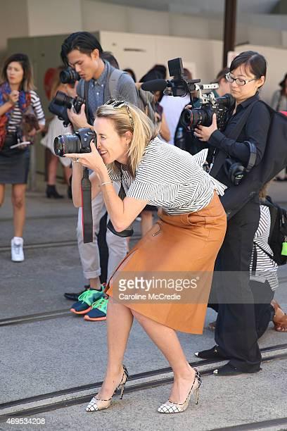 Blogger Mandy Shadforth attends MercedesBenz Fashion Week Australia 2015 at Carriageworks on April 13 2015 in Sydney Australia