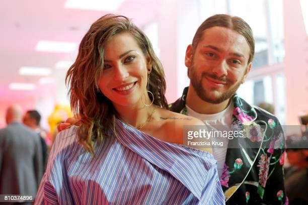 Blogger Masha Sedgwick and Riccardo Simonetti attend the Gala Fashion Brunch during the MercedesBenz Fashion Week Berlin Spring/Summer 2018 at...
