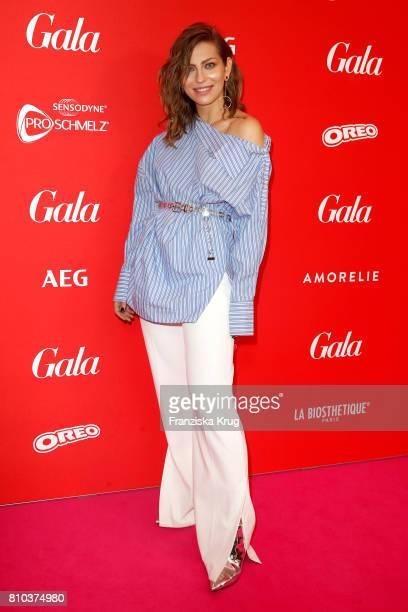 Blogger Masha Sedgwick attends the Gala Fashion Brunch during the MercedesBenz Fashion Week Berlin Spring/Summer 2018 at Ellington Hotel on July 7...