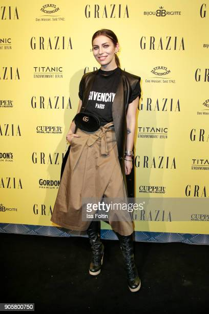 Blogger Masha Sedgwick attends the Grazia Fashion Dinner at Titanic Deluxe Hotel on January 16 2018 in Berlin Germany