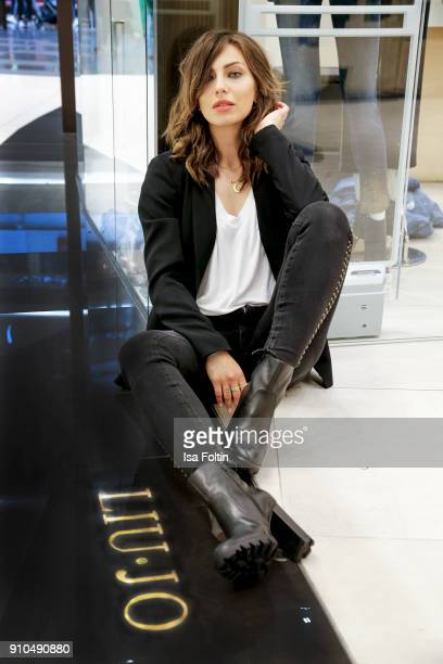 Blogger Masha Sedgwick during the Liu Jo Younique Club denim customization event on October 14 2017 in Berlin Germany