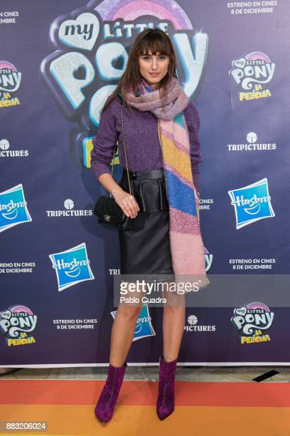 Blogger Mayte de la Iglesia attends 'My Little Pony' premiere at the Capitol cinema on November 30 2017 in Madrid Spain