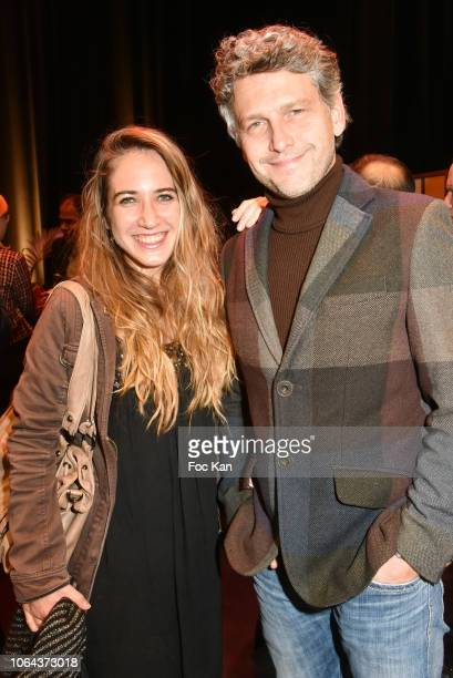 Blogger Melodie Quercron and actor Frederic Gorny attend the 'Poesie en Liberte' 20th Anniversary 2018 Awards at Auditorium Niedermeyer Issy Les...