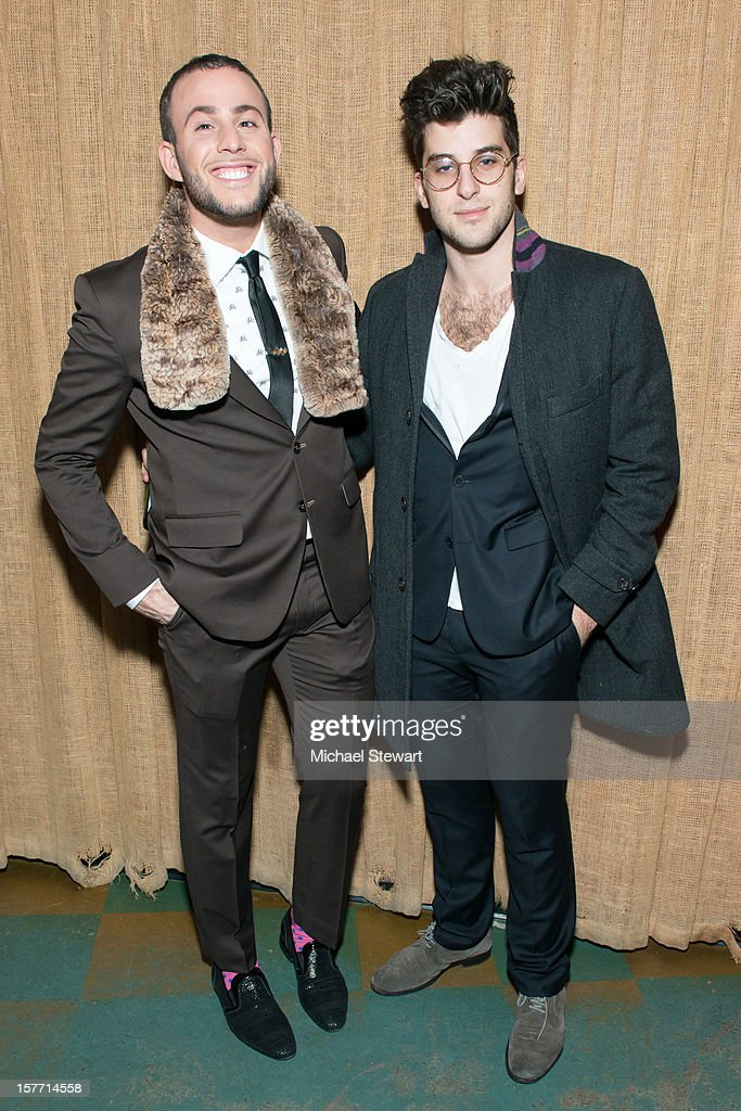 Blogger Micah Jesse (L) and dancer Ted Volynets attend 'Baby I'm A Star' at Mister H on December 5, 2012 in New York City.
