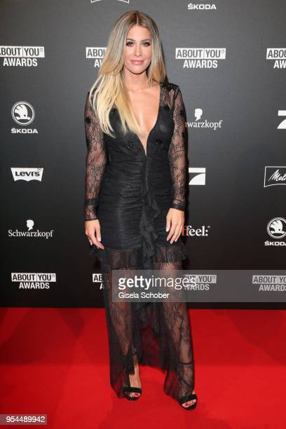 Blogger Mrs Bella poses during the 2nd ABOUT YOU Awards 2018 at Bavaria Studios on May 3 2018 in Munich Germany