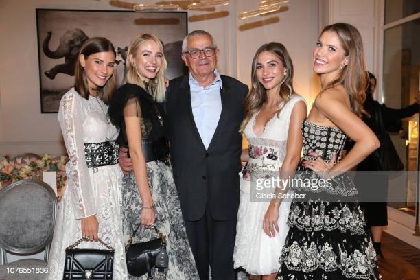 Blogger Nina Schwichtenberg Leonie Hanne Perfumer of Dior Francois Demachy AnnKathrin Goetze and Victoria Swarovski during the private Maison...