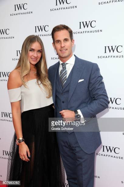 Blogger Nina Suess and CEO IWC Schaffhausen Christoph GraingerHerr attend the exclusive grand opening event of the new IWC Schaffhausen Boutique in...