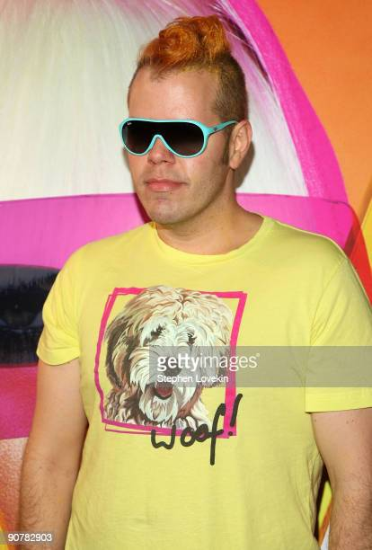 Blogger Perez Hilton attends Lady Gaga and the launch of V61 hosted by V Magazine Marc Jacobs and Belvedere Vodka on September 14 2009 in New York...