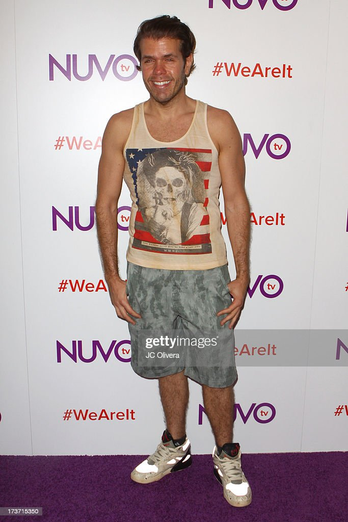 Blogger Perez Hilton attends NUVOtv Network Launch Party at The London West Hollywood on July 16, 2013 in West Hollywood, California.
