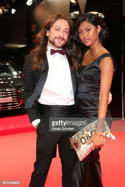 Blogger Riccardo Simonetti and Anuthida Ploypetch during the 24th Opera Gala benefit to Deutsche AidsStiftung at Deutsche Oper Berlin on November 4...