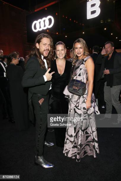 Blogger Riccardo Simonetti Anika Decker Nina Suess during the aftershow party of the 24th Opera Gala benefit to Deutsche AidsStiftung at Deutsche...