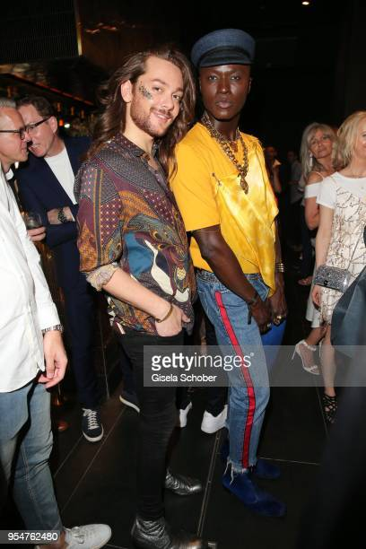 Blogger Riccardo Simonetti, Papis Loveday during the Grand Opening of Roomers Spa by Shan Rahimkhan on May 4, 2018 in Munich, Germany.