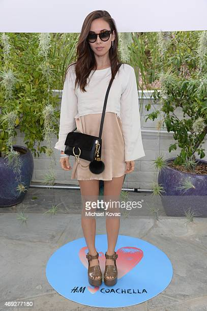 Blogger Rumi Neely attends the Official HM Loves Coachella Party at the Parker Palm Springs on April 10 2015 in Palm Springs California