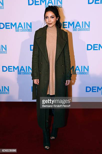 Blogger Sananas attends the 'Demain Tout Commence' Paris Premiere at Cinema Le Grand Rex on November 28 2016 in Paris France