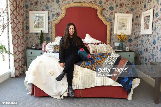 Blogger Shira Rose of A Sequin Love Affair poses during Nordstrom and Anthropologie partner to Introduce Anthropologie Home In Nordstrom stores and...